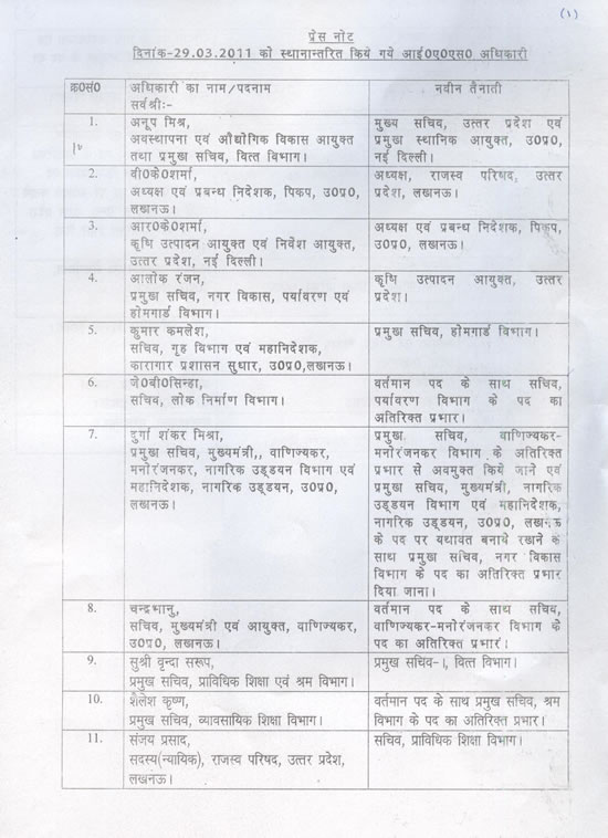 Ias Transfers Goverment Information